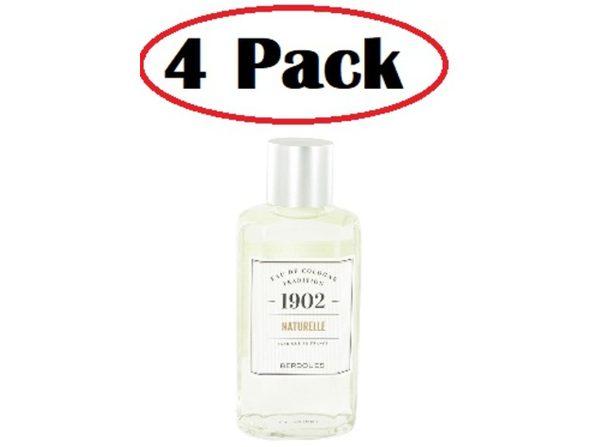 4 Pack of 1902 Natural by Berdoues Eau De Cologne (Unisex) 8.3 oz - Product Image