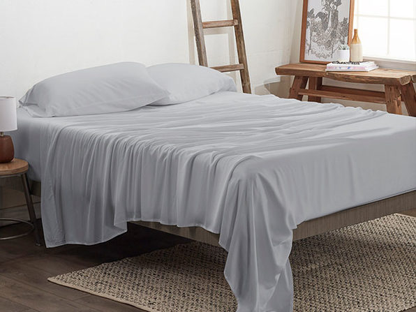 4-Piece Luxury 100% Rayon Bamboo Sheet Set // Light Gray