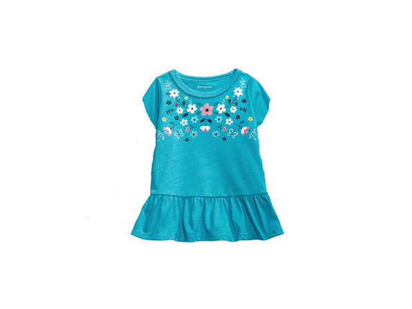 First Impressions Baby Girls Cotton Floral-Print Peplum Tunic Size 3-6 Months