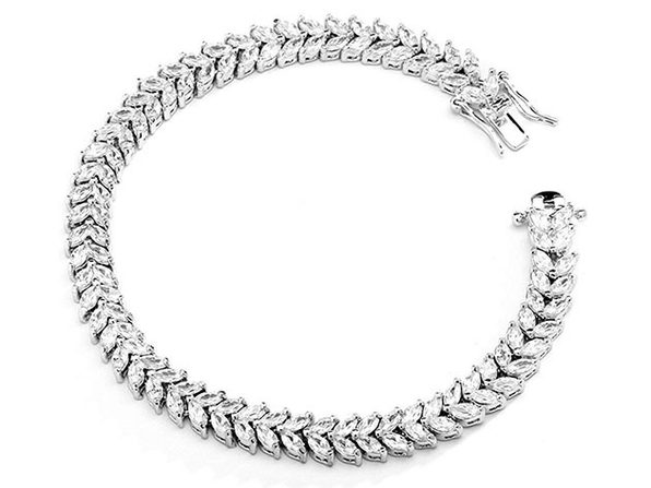 Tennis Bracelet with Two-Tier Swarovski Crystals