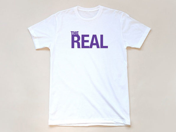 The Real Logo White T-Shirt-M - Product Image