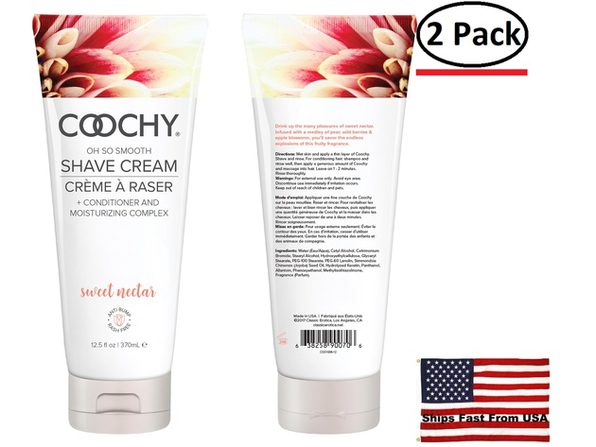 ( 2 Pack ) Coochy Shave Cream Sweet Nectar - 12.5 Oz - Product Image