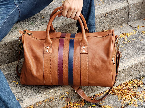 Leather Duffle Bag (Brown)