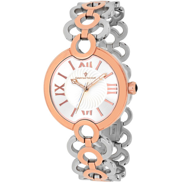 Christian Van Sant Women's Twirl White Dial Watch - CV2814