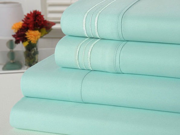 Bamboo Comfort 4-Piece Luxury Queen Sheet Set (Aqua)