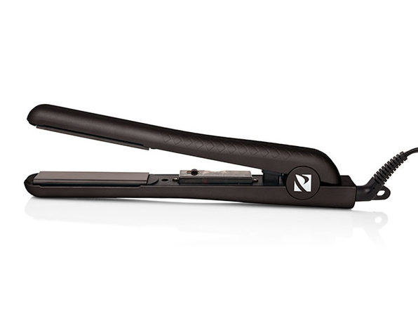 Soft Touch Diamond Infusion Flat Iron with Ceramic Plates (Matte Black)