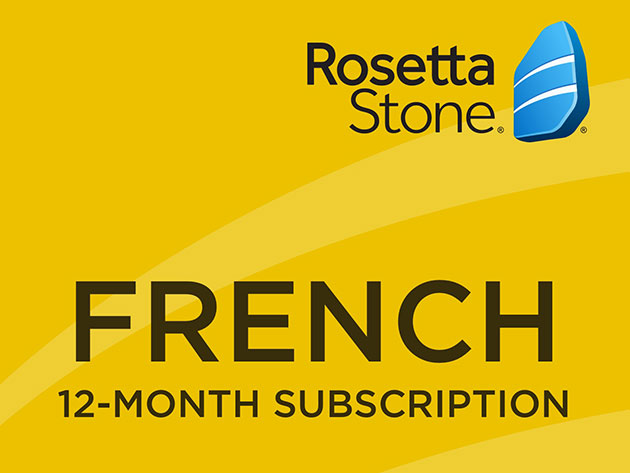 Rosetta Stone: 12-Month Subscription (French) | Skillwise Rosetta Stone Login