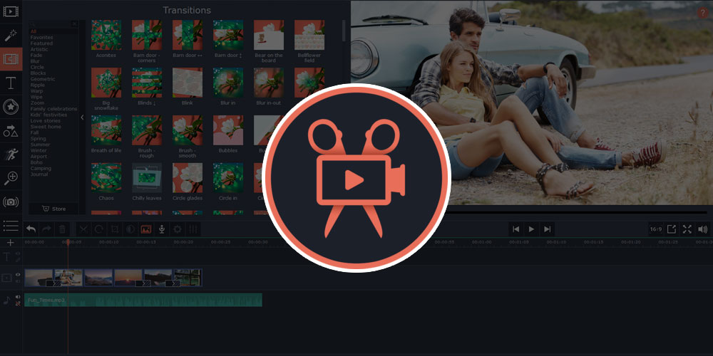 Movavi Video Editor makes easy to create and edit videos and it's just $19