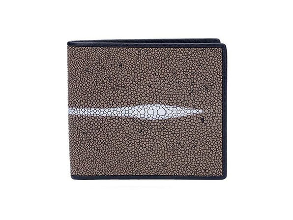 Andre Giroud exotic stingray wallet - taupe - Product Image