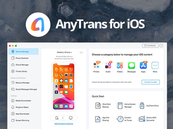 AnyTrans® One-Stop Content Manager for iOS