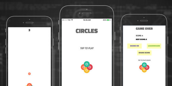 Circles: iOS 10 Game App Template - Product Image