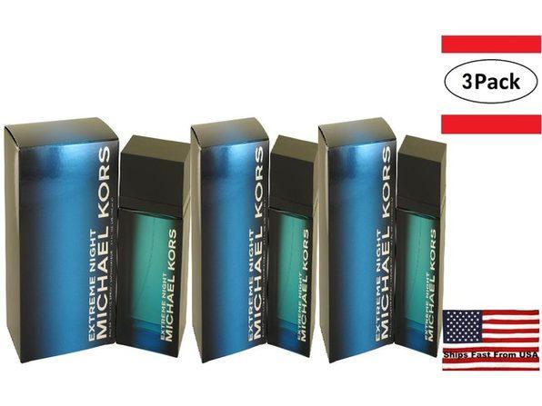 3 Pack Michael Kors Extreme Night by Michael Kors Eau De Toilette Spray 4 oz for Men - Product Image