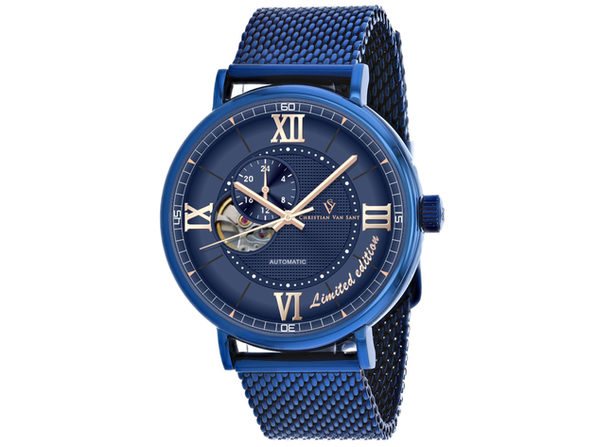 Christian Van Sant Men's Somptueuse LTD Blue Dial Watch - CV1145