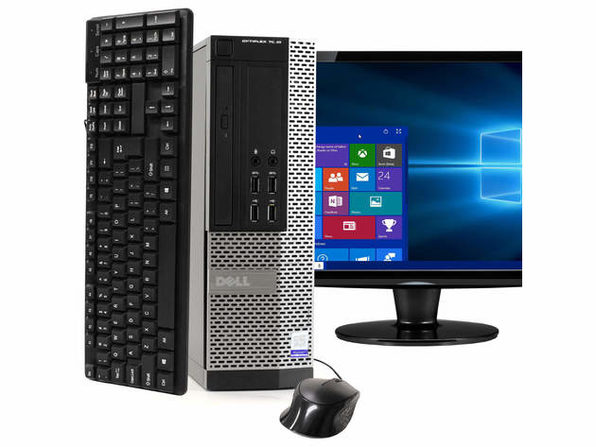 "Dell OptiPlex 7020 Desktop PC, 3.2GHz Intel i5 Quad Core Gen 4, 16GB RAM, 120GB SSD, Windows 10 Home 64 bit, 22"" Widescreen Screen (Renewed)"
