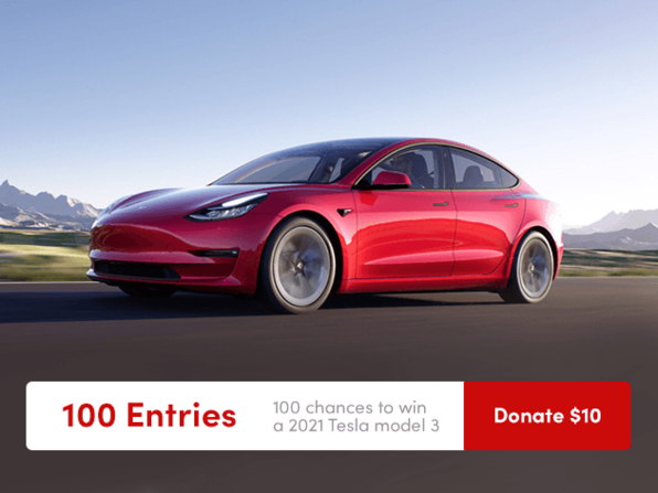 Tesla Donate $10 for 100 Entries - Product Image