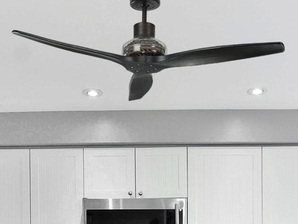 """Star Proppeller 52"""" Indoor Outdoor Ceiling Fan (Black)"""
