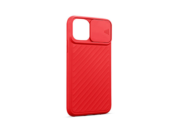 iPhone 12/12 Pro Case with Camera Cover Red - Product Image