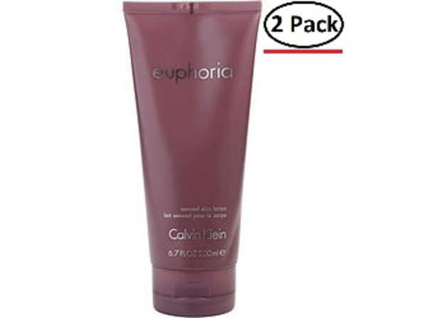 EUPHORIA by Calvin Klein BODY LOTION 6.7 OZ for WOMEN ---(Package Of 2)