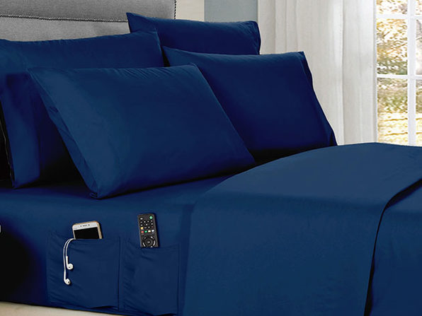 Kathy Ireland 6-Piece Smart Sheet Set (Navy/Full)