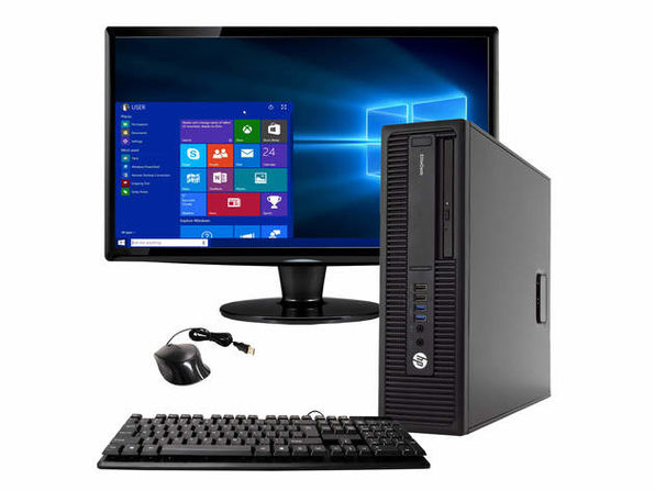 "HP ProDesk 800 G2 Desktop PC, 3.2GHz Intel i5 Quad Core Gen 8, 16GB RAM, 2TB SATA HD, Windows 10 Professional 64 bit, 24"" Widescreen Screen (Renewed)"