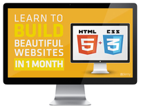 Build Beautiful HTML5 & CSS3 Websites in 1 Month - Product Image