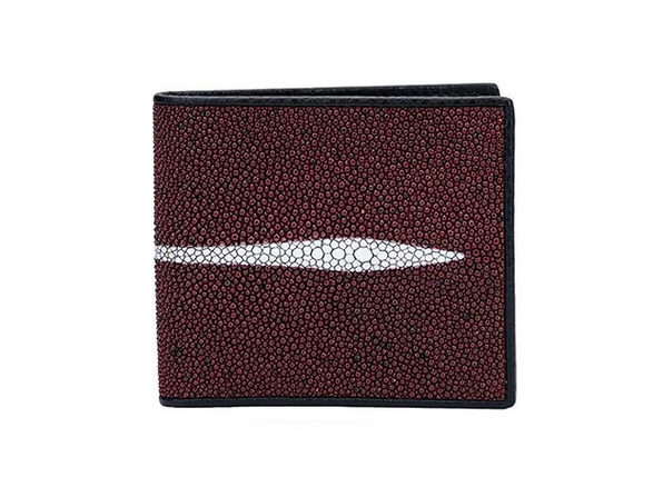 Andre Giroud exotic stingray wallet - burgundy - Product Image