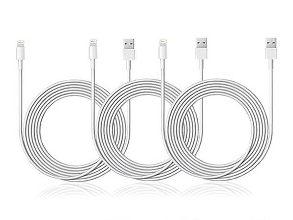 10-Ft MFi-Certified Lightning Cable: 3-Pack