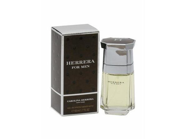 Carolina Herrera Eau De Toilette Spray, Cologne for Men, Sharp Oriental Woody Masculine Fragrance, 1.7 Fluid Ounces