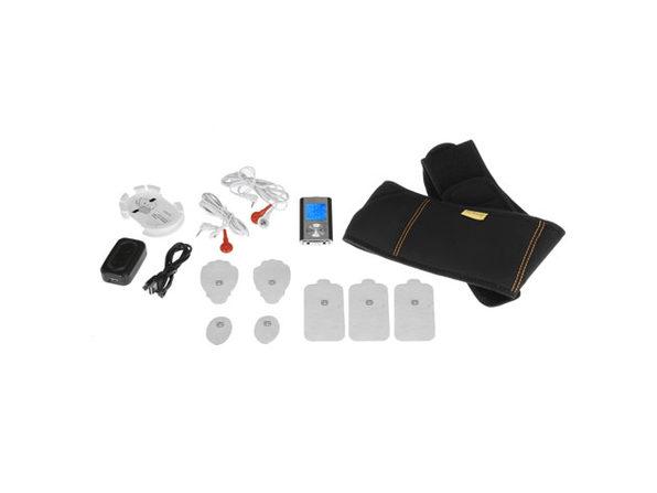 PCH Life Digital Pulse Massager & Workout Belt Combo Set (Black)