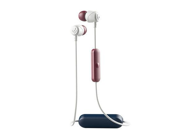 Skullcandy Jib Wireless Earbuds (White/Crimson)