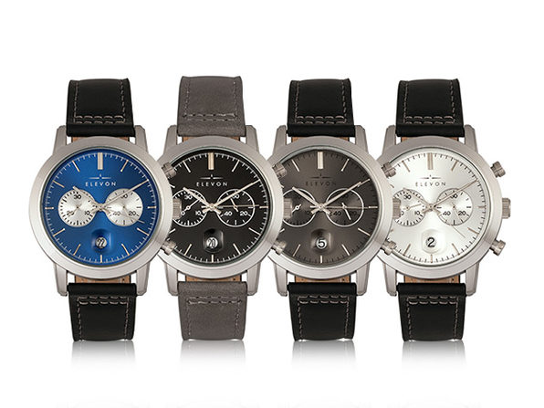 Elevon Langley Chronograph Leather Band Watch