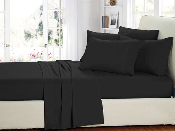 Smart Sheets® Black Microfiber Sheet Set (King)