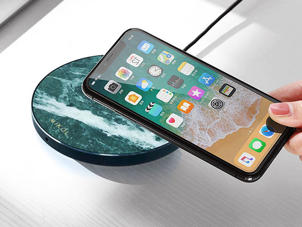 Marble Wireless Charging Pad (Emerald Green)