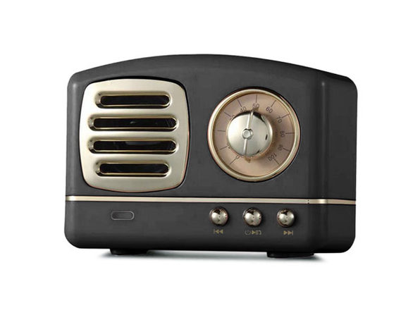 Retro Bluetooth Speakers- Black - Product Image