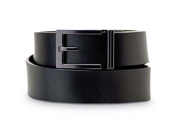 Express Gunmetal Top Grain Belt - Black - Product Image