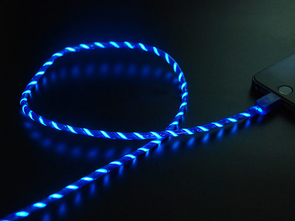 Glowing Charging Cable V2 with Lightening Connector - Blue - Product Image