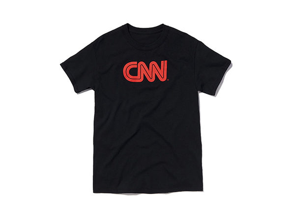 CNN Basic Tee  Black  L