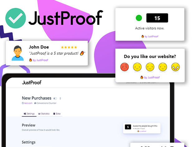 Stack Social Deal for JustProof Social Proof Notifier: Lifetime Subscription (Pro Plan)