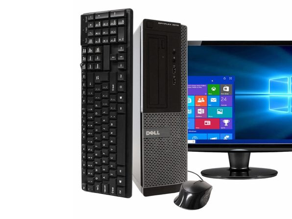 "Dell OptiPlex 3010 Desktop PC, 3.20 GHz Intel i5 Quad Core Gen 3, 4GB RAM, 250GB SATA HD, Windows 10 Home 64 bit, BRAND NEW 24"" Screen (Renewed)"