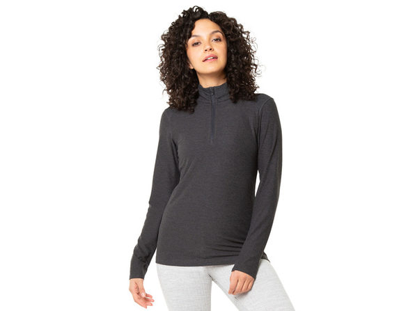 Kyodan Womens Fitted Long Sleeve 1/4 Zip Up Sweater Top - Large
