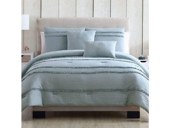 Hallmart Collectibles Odessa Twin/Twin XL 4 Piece Comforter Set Blue