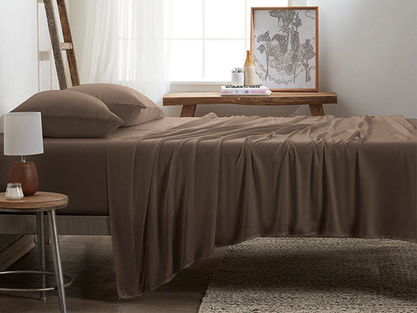 4-Piece Luxury 100% Rayon Bamboo Sheet Set // Taupe (Queen)