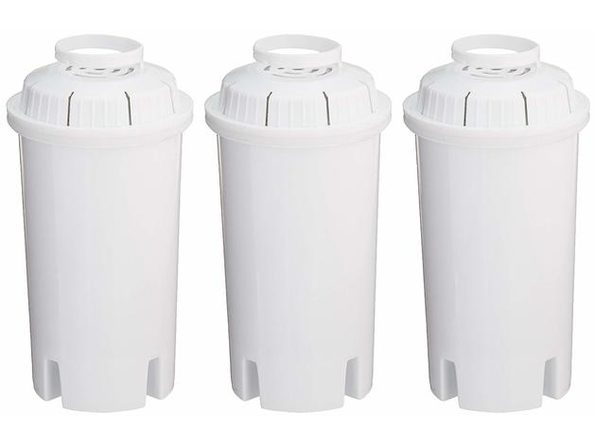Sapphire Replacement Water Filters, for Sapphire, Brita and Pur Pitchers, 3-Pack - White