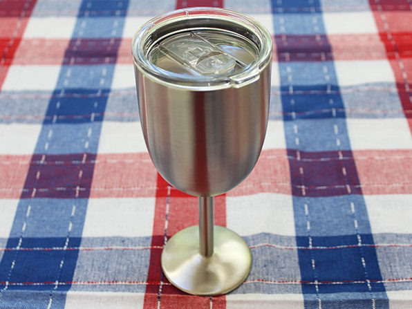 Stainless Steel Double Walled Wine Glass With Lid