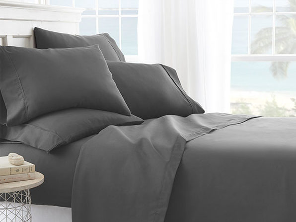 iEnjoy Home Grey 6-Piece Sheet Set (Cal King)