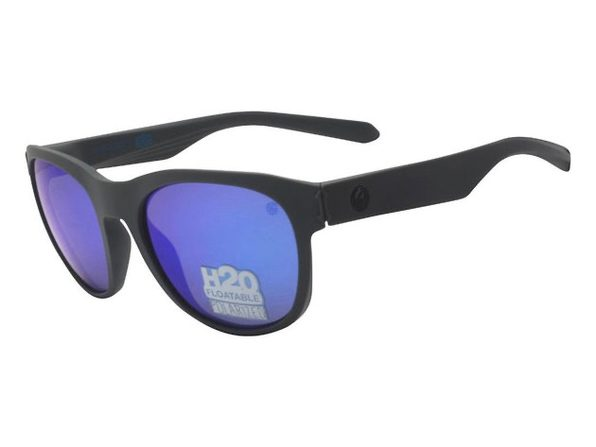 Dragon Alliance DR Subflect H2O Sunglasses Matte Grey Frame with Blue Ion Lens - Grey