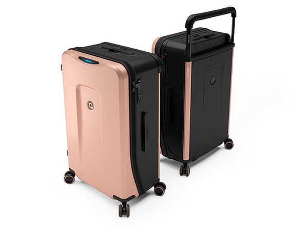 Plevo: The Infinite Smart Expandable Luggage (Pink)
