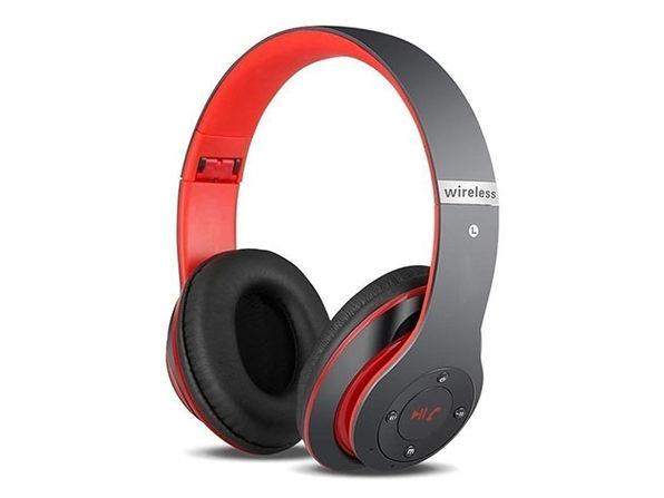 S6 Wireless Bluetooth Headphones (Black/Red)