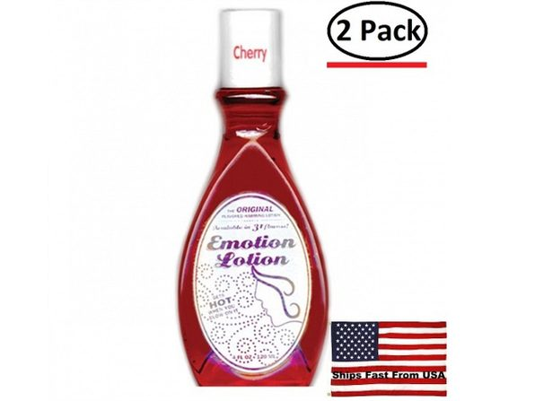 ( 2 Pack ) Emotion Lotion - Cherry - 4 Fl. Oz. - Product Image
