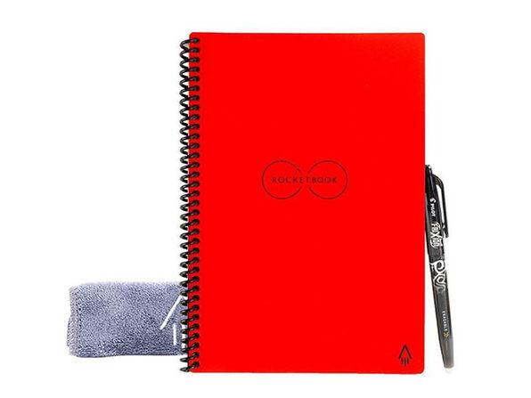 Rocketbook Everlast Reusable Notebook + Pen Station: 2-Pack -  Red